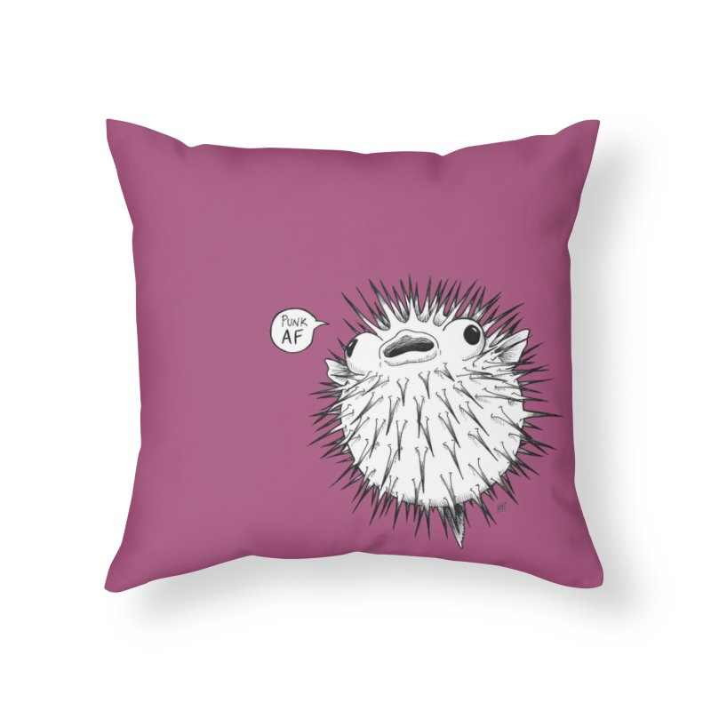 Pokey Punk AF Home Throw Pillow by DEROSNEC's Art Shop