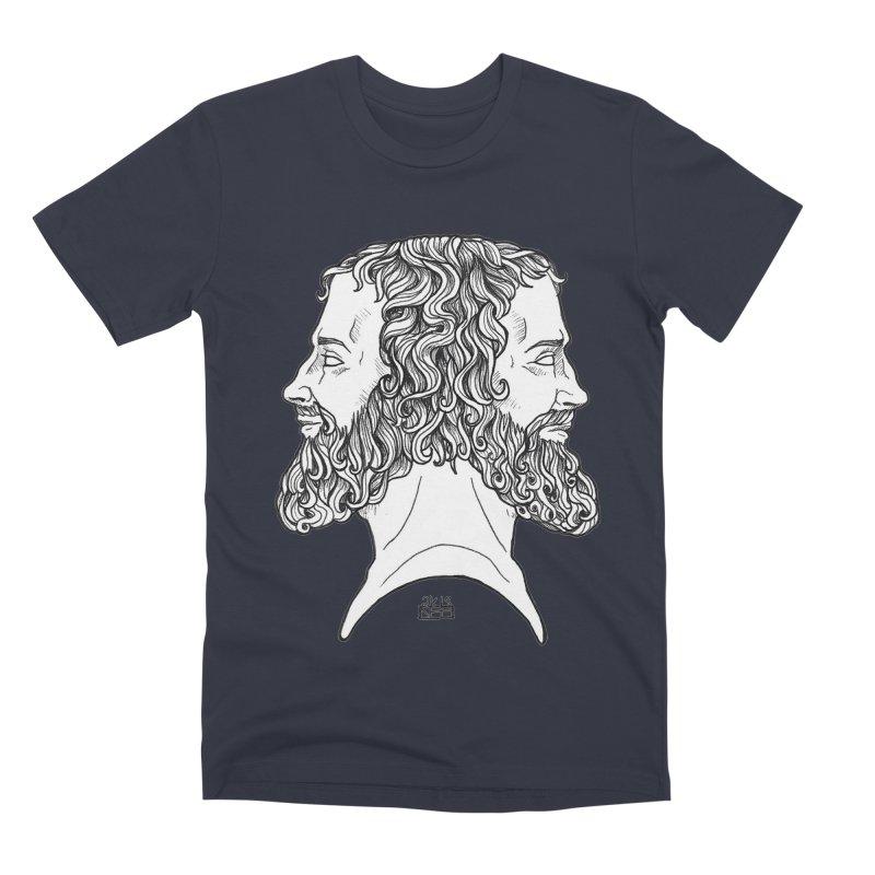 Janus Sees Both Past and Future Men's Premium T-Shirt by DEROSNEC's Art Shop