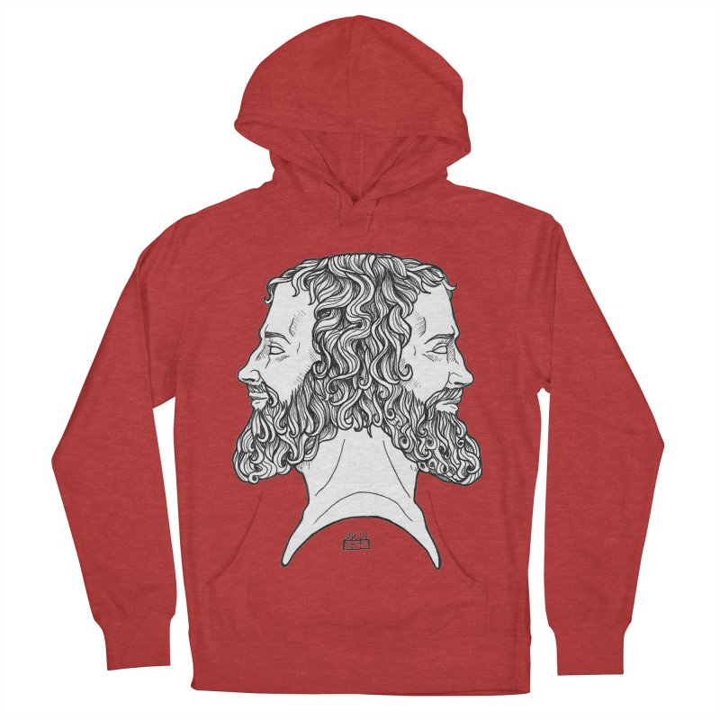 Janus Sees Both Past and Future Women's French Terry Pullover Hoody by DEROSNEC's Art Shop
