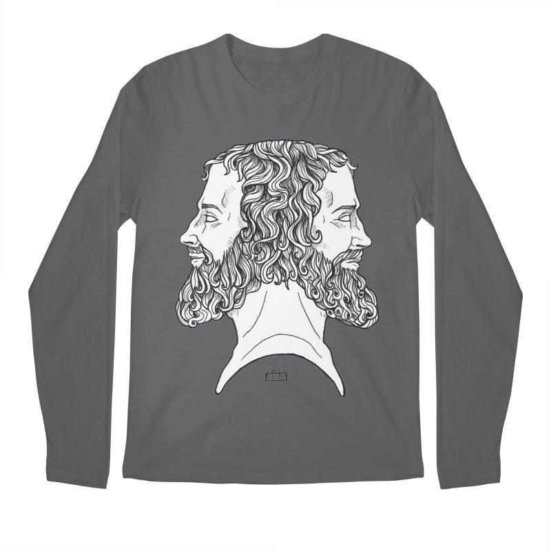 Janus Sees Both Past and Future Men's Regular Longsleeve T-Shirt by DEROSNEC's Art Shop