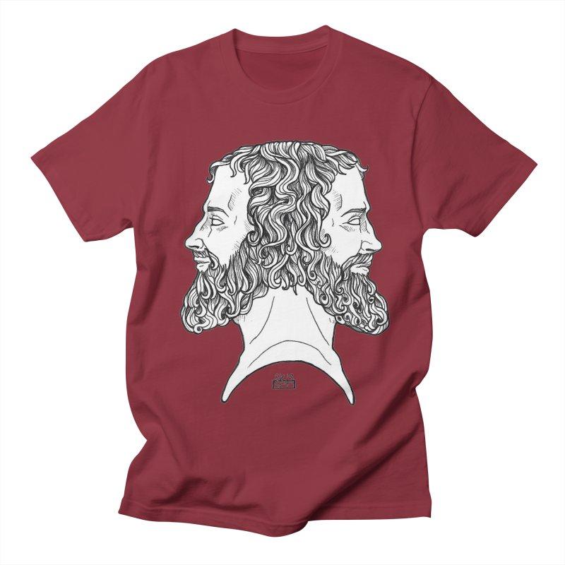 Janus Sees Both Past and Future Women's Regular Unisex T-Shirt by DEROSNEC's Art Shop