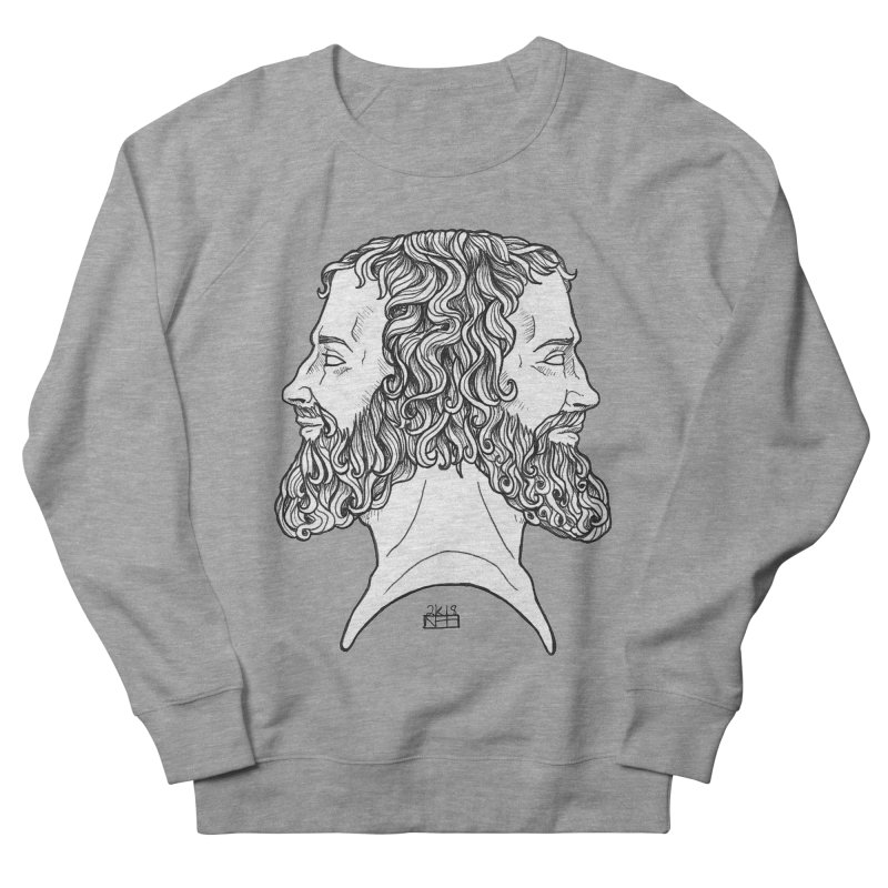 Janus Sees Both Past and Future Women's French Terry Sweatshirt by DEROSNEC's Art Shop