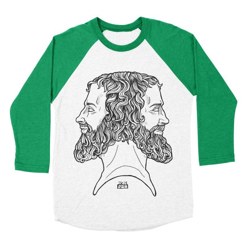 Janus Sees Both Past and Future Women's Baseball Triblend Longsleeve T-Shirt by DEROSNEC's Art Shop