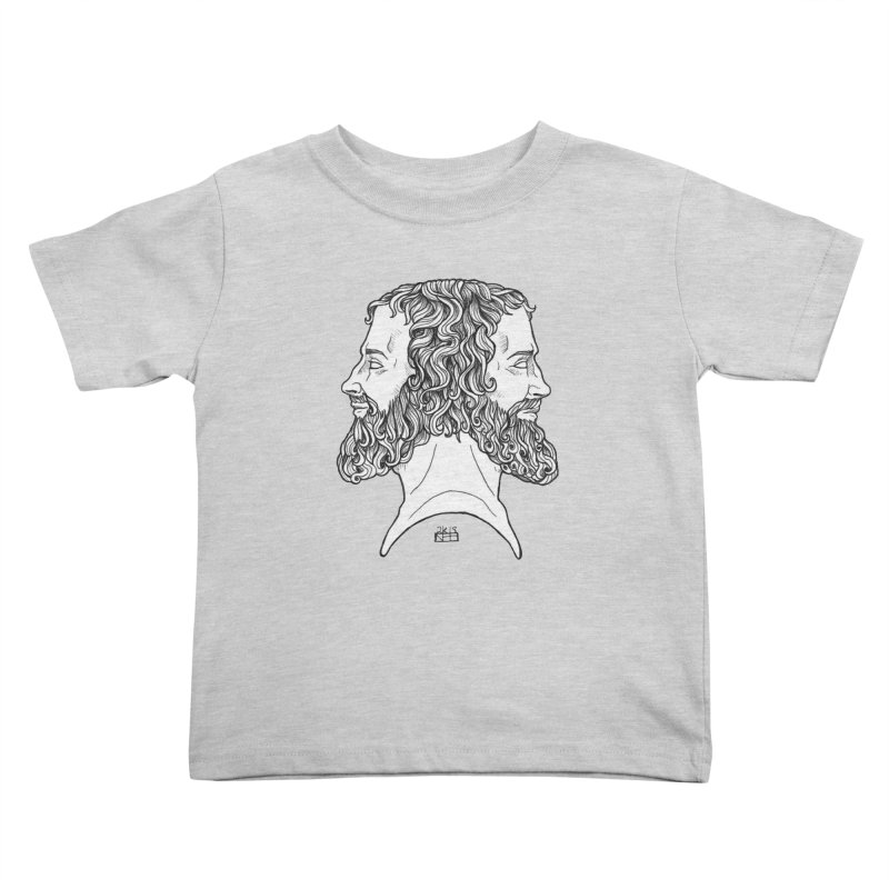 Janus Sees Both Past and Future Kids Toddler T-Shirt by DEROSNEC's Art Shop