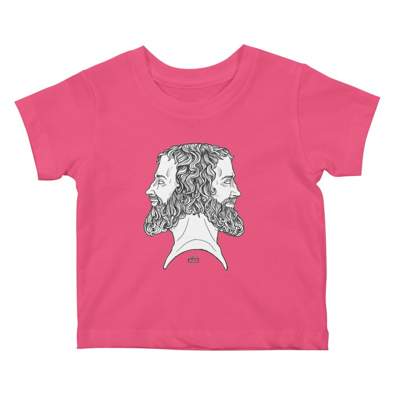 Janus Sees Both Past and Future Kids Baby T-Shirt by DEROSNEC's Art Shop