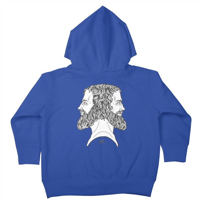 Janus Sees Both Past and Future Kids Toddler Zip-Up Hoody by DEROSNEC's Art Shop