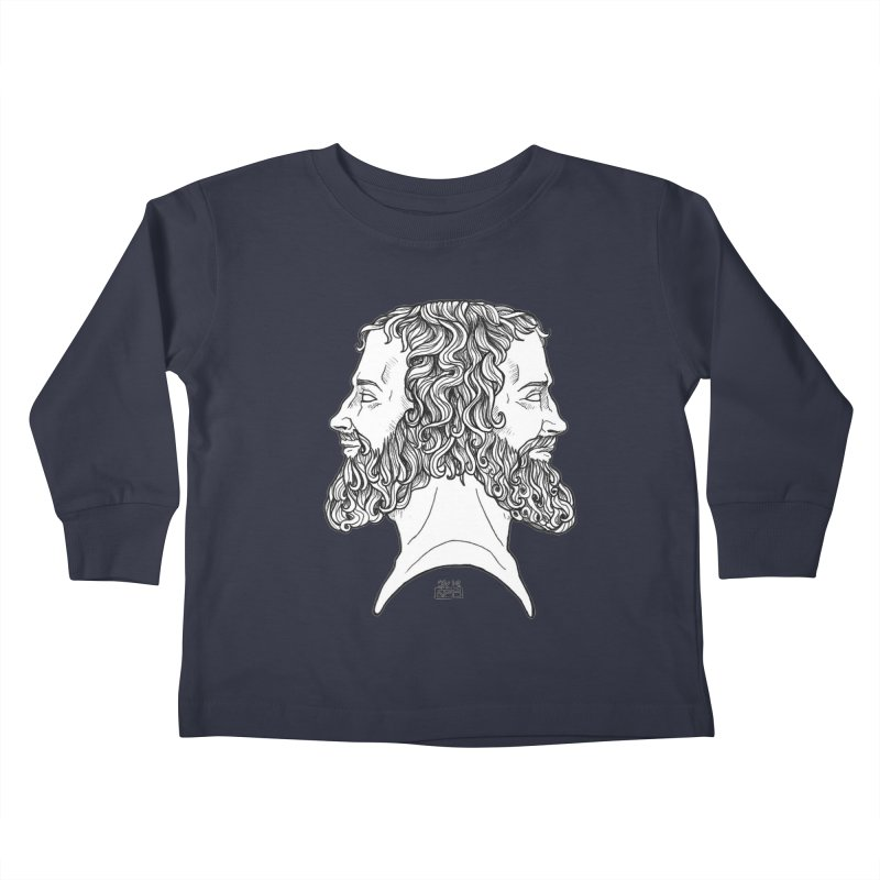 Janus Sees Both Past and Future Kids Toddler Longsleeve T-Shirt by DEROSNEC's Art Shop