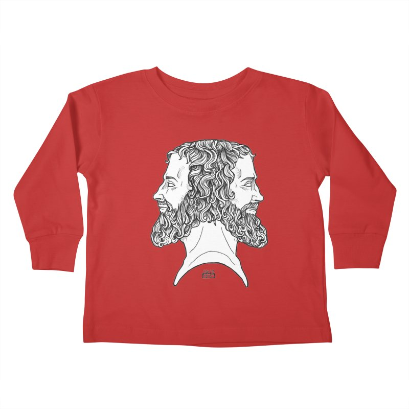 Janus Sees Both Past and Future Kids Toddler Longsleeve T-Shirt by DEROSNEC's Art Shop