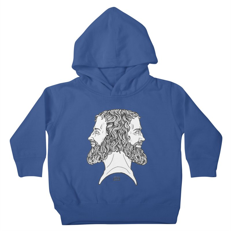 Janus Sees Both Past and Future Kids Toddler Pullover Hoody by DEROSNEC's Art Shop