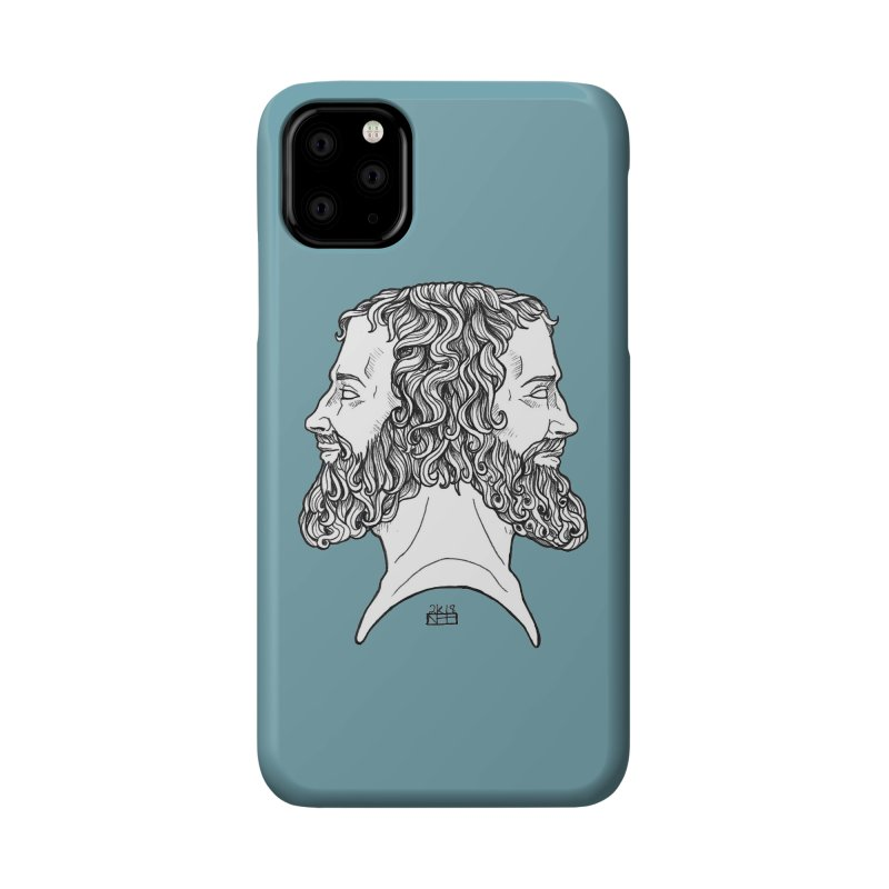 Janus Sees Both Past and Future Accessories Phone Case by DEROSNEC's Art Shop