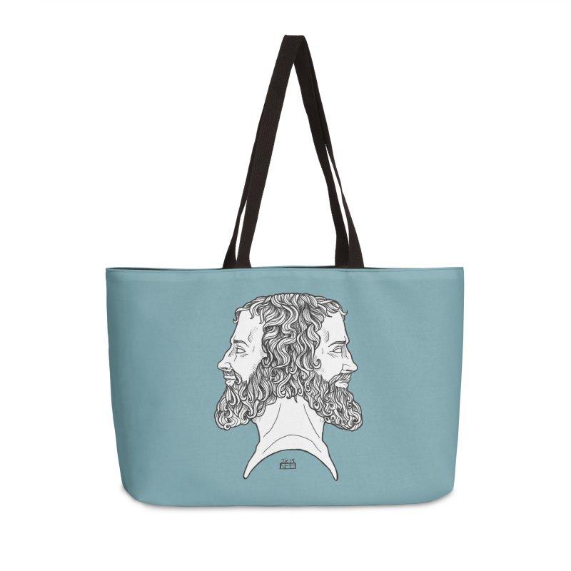 Janus Sees Both Past and Future Accessories Bag by DEROSNEC's Art Shop