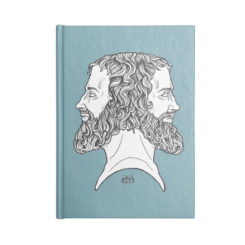 Janus Sees Both Past and Future Accessories Lined Journal Notebook by DEROSNEC's Art Shop