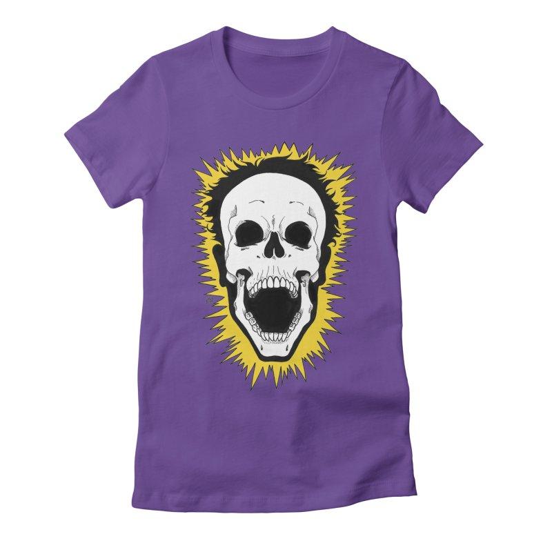 Jolt Women's Fitted T-Shirt by DEROSNEC's Art Shop