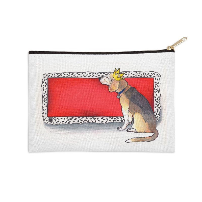 King of the Kennel Accessories Zip Pouch by DEROSNEC's Art Shop