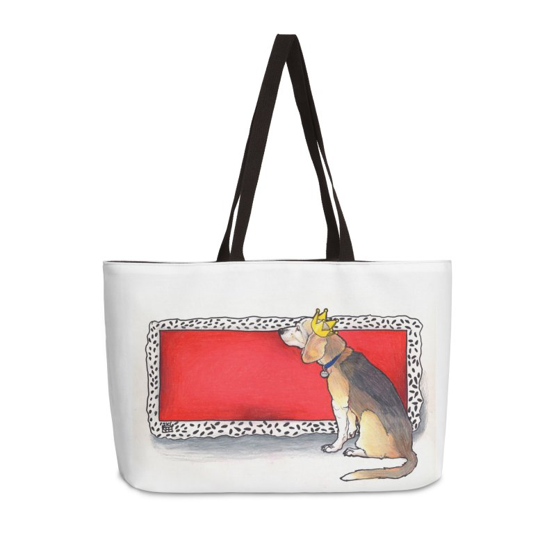 King of the Kennel Accessories Weekender Bag Bag by DEROSNEC's Art Shop