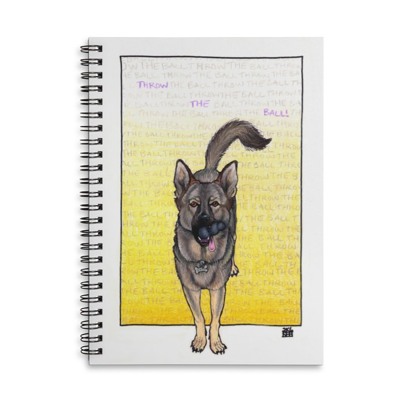 Throw the Ball Accessories Lined Spiral Notebook by DEROSNEC's Art Shop