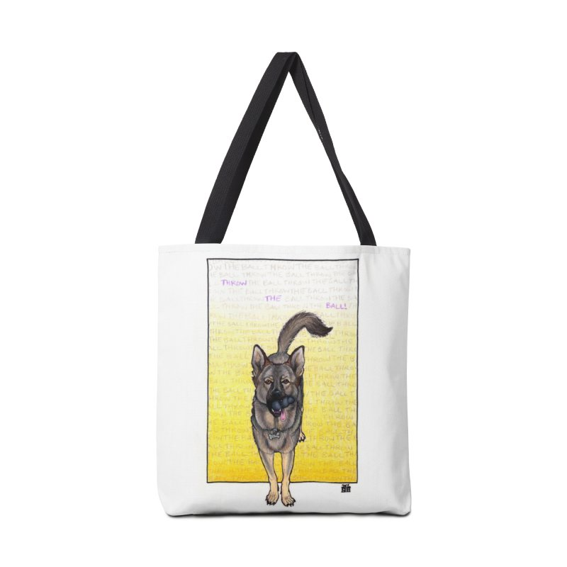 Throw the Ball Accessories Tote Bag Bag by DEROSNEC's Art Shop