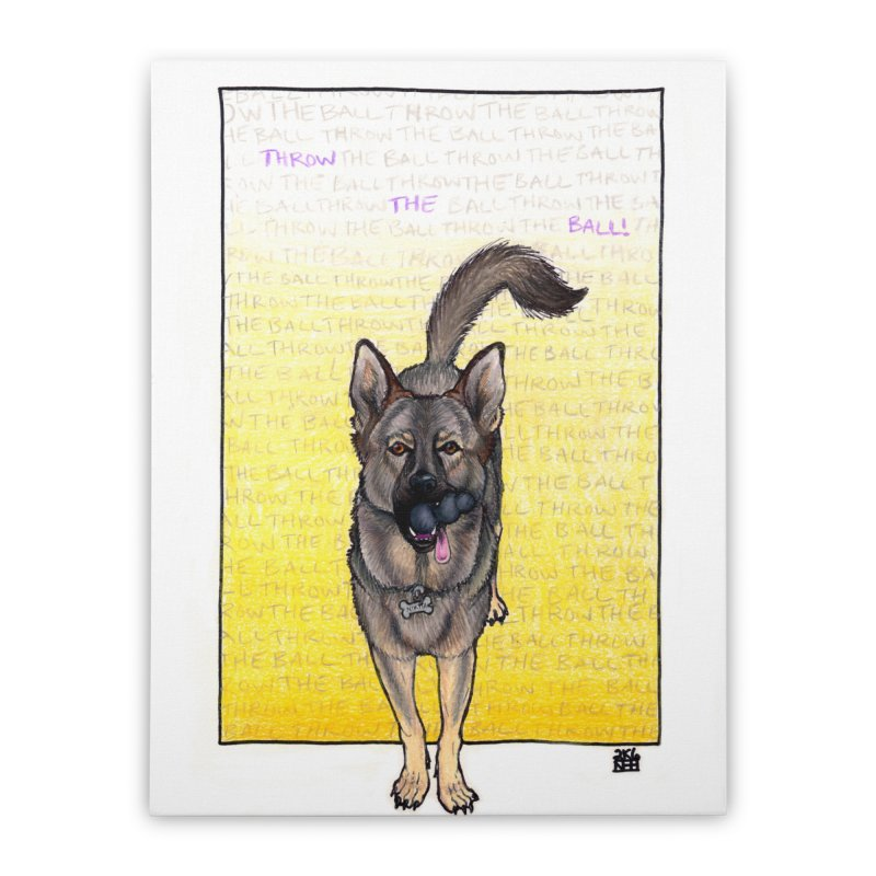 Throw the Ball Home Stretched Canvas by DEROSNEC's Art Shop