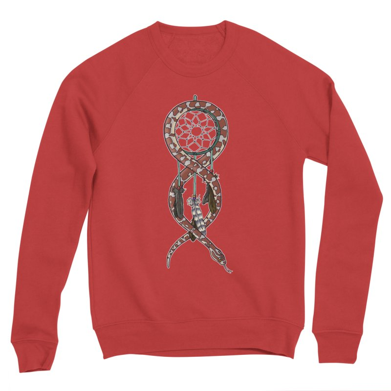 Dreamcatcher Snake Men's Sponge Fleece Sweatshirt by DEROSNEC's Art Shop