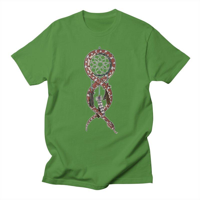 Dreamcatcher Snake Men's Regular T-Shirt by DEROSNEC's Art Shop