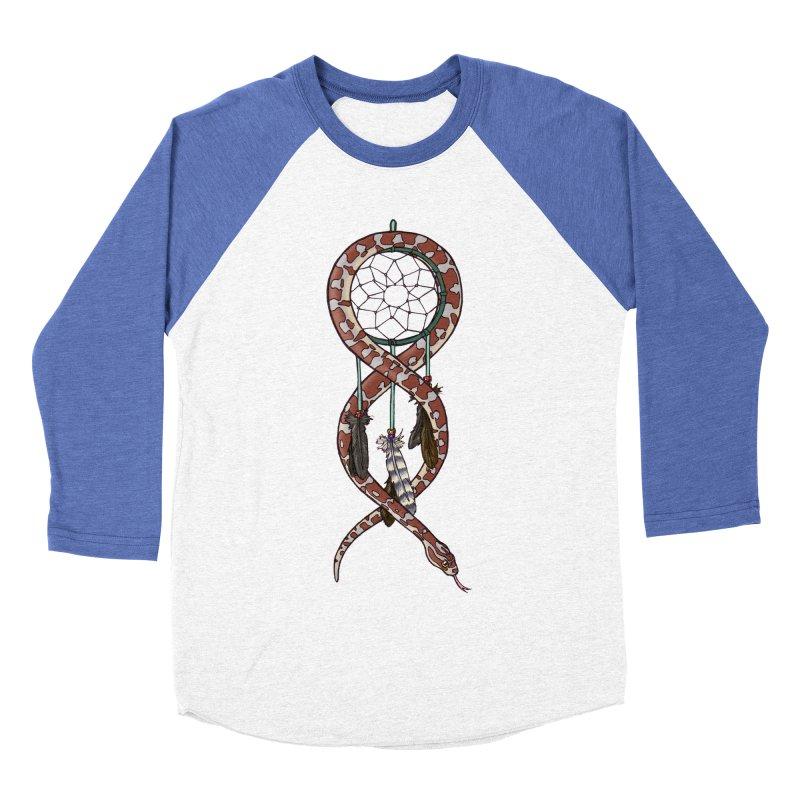 Dreamcatcher Snake Men's Baseball Triblend Longsleeve T-Shirt by DEROSNEC's Art Shop