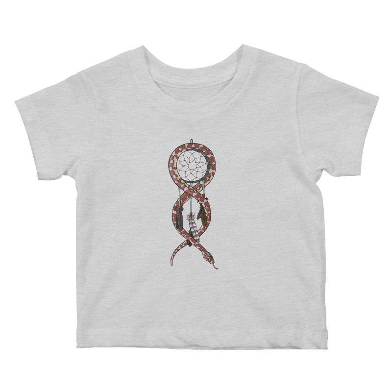Dreamcatcher Snake Kids Baby T-Shirt by DEROSNEC's Art Shop