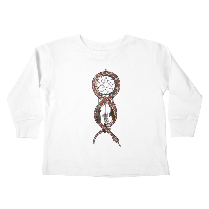 Dreamcatcher Snake Kids Toddler Longsleeve T-Shirt by DEROSNEC's Art Shop