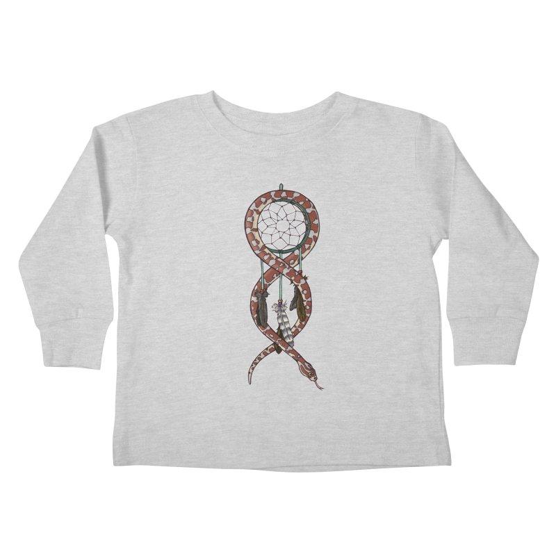 Dreamcatcher Snake Kids Toddler Longsleeve T-Shirt by DEROSNEC's Art Shop