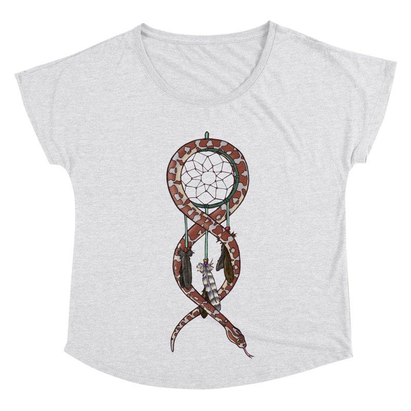 Dreamcatcher Snake Women's Dolman Scoop Neck by DEROSNEC's Art Shop
