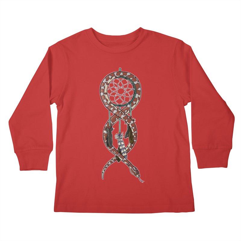Dreamcatcher Snake Kids Longsleeve T-Shirt by DEROSNEC's Art Shop
