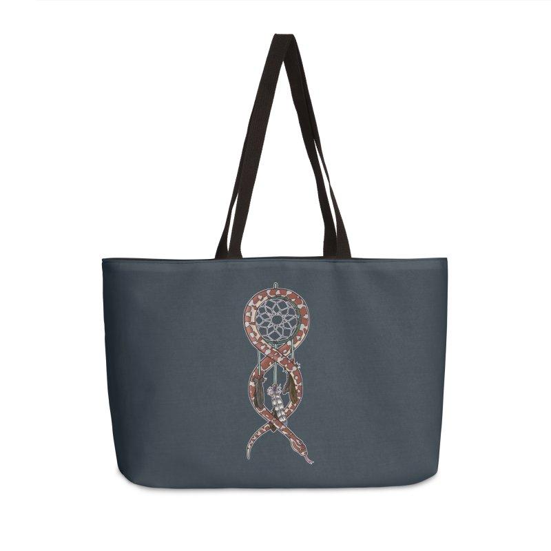 Dreamcatcher Snake Accessories Weekender Bag Bag by DEROSNEC's Art Shop