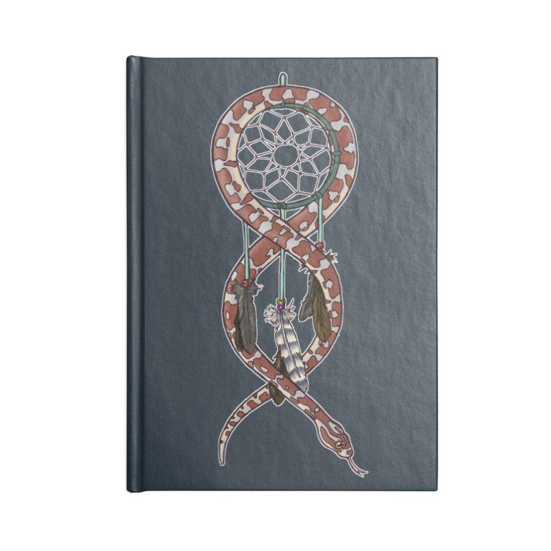 Dreamcatcher Snake Accessories Lined Journal Notebook by DEROSNEC's Art Shop