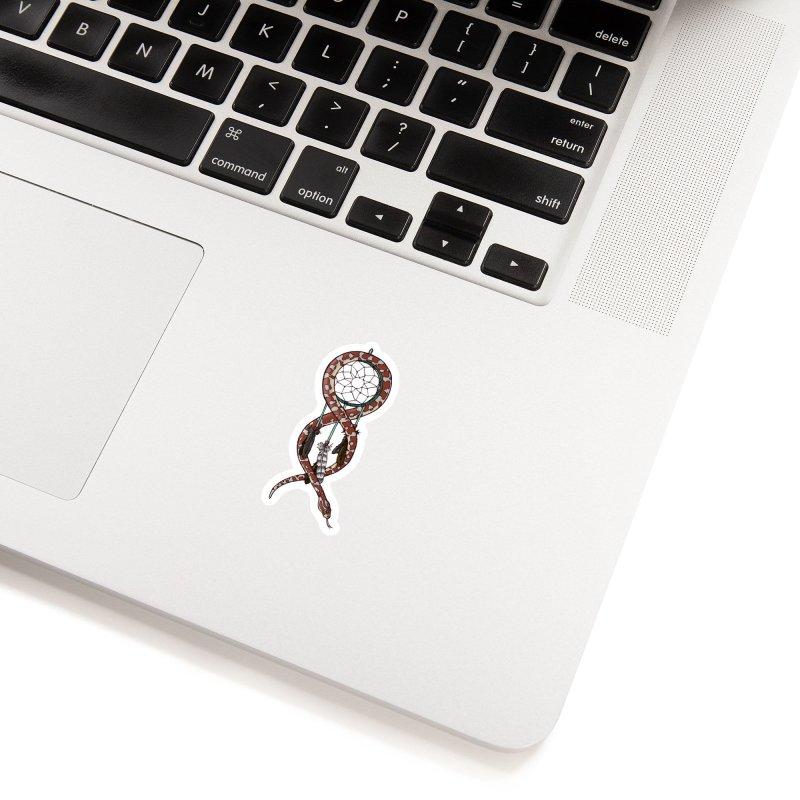 Dreamcatcher Snake Accessories Sticker by DEROSNEC's Art Shop