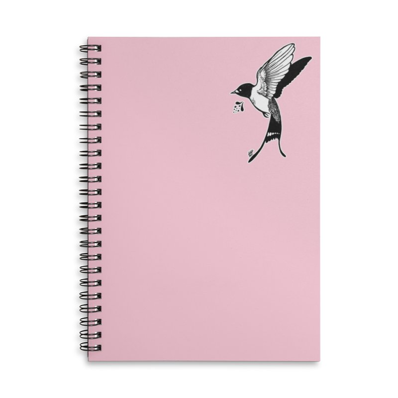 Swift Accessories Lined Spiral Notebook by DEROSNEC's Art Shop