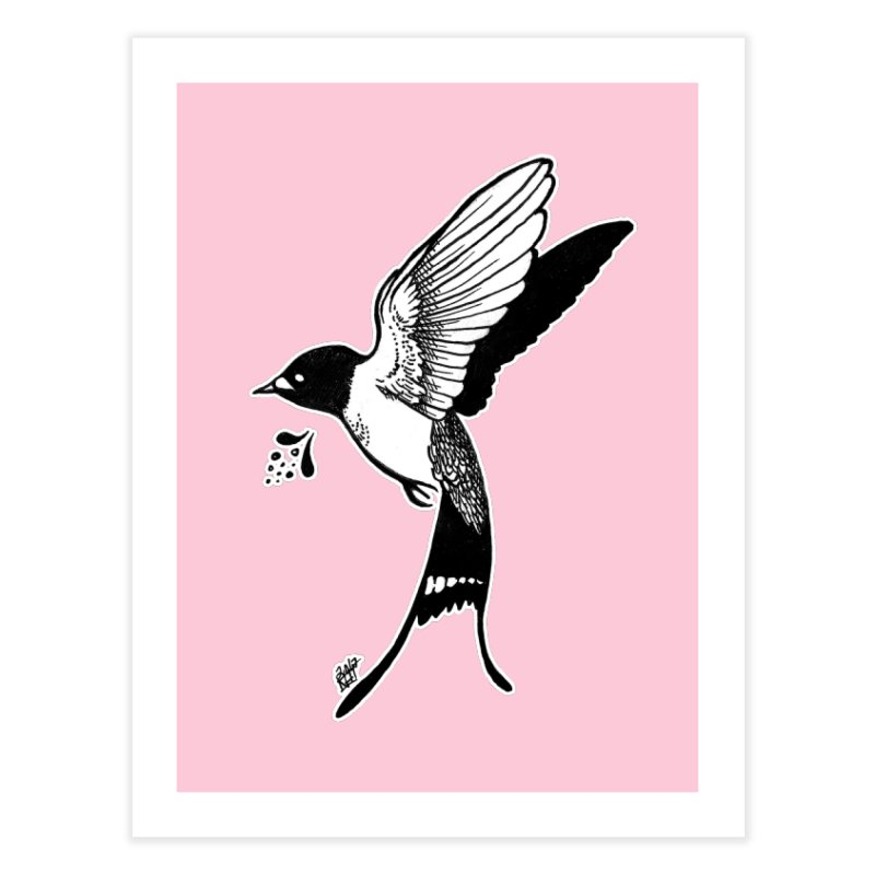 Swift Home Fine Art Print by DEROSNEC's Art Shop