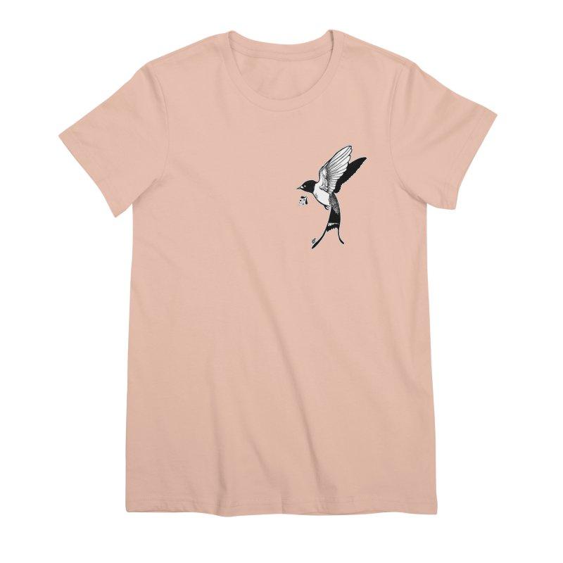 Swift Women's Premium T-Shirt by DEROSNEC's Art Shop
