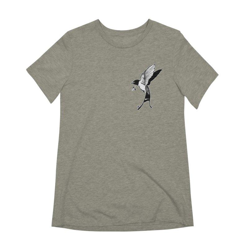 Swift Women's Extra Soft T-Shirt by DEROSNEC's Art Shop