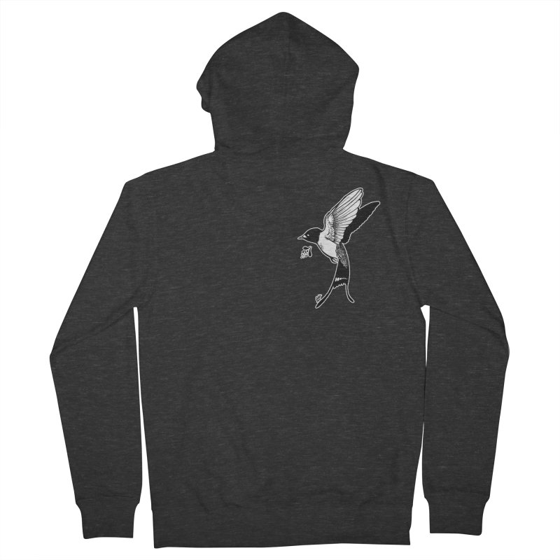 Swift Women's French Terry Zip-Up Hoody by DEROSNEC's Art Shop