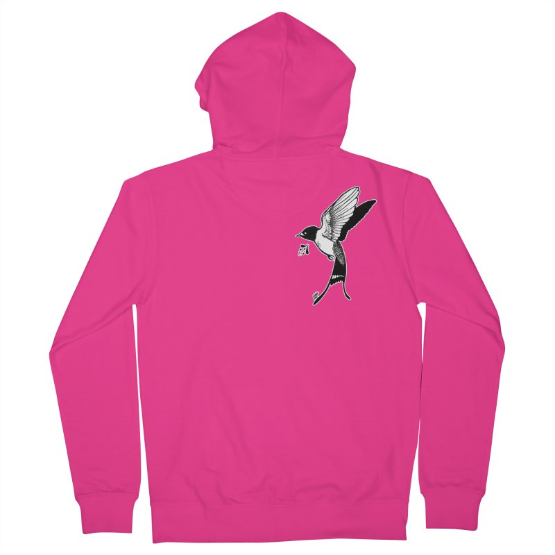 Swift Men's French Terry Zip-Up Hoody by DEROSNEC's Art Shop