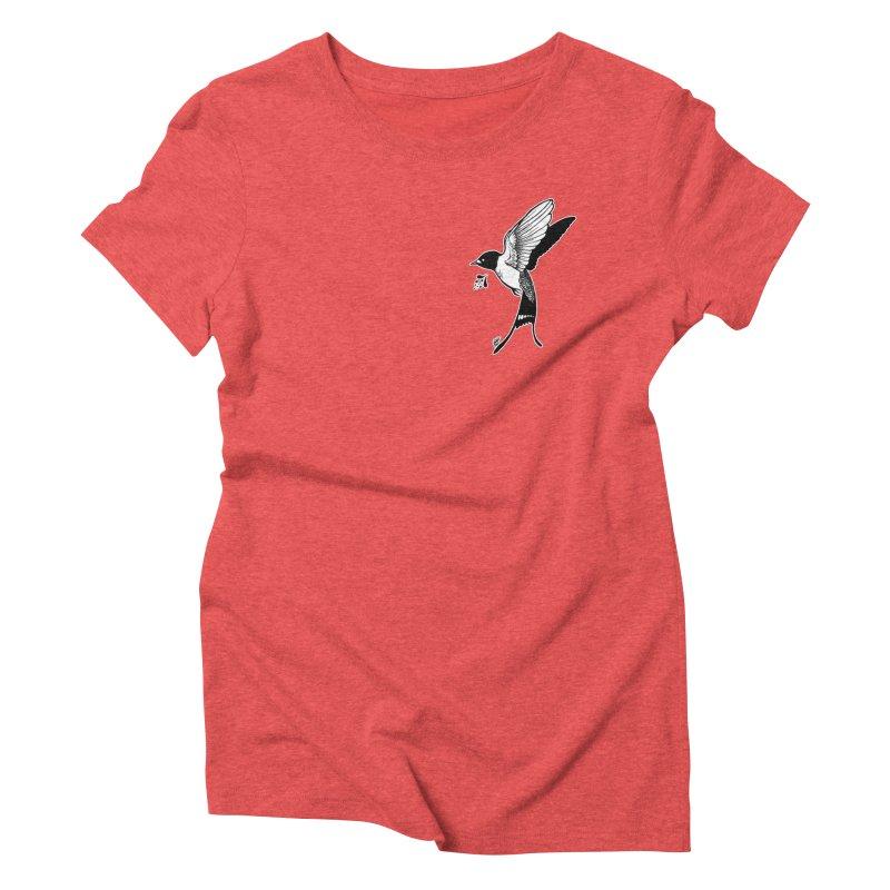 Swift Women's Triblend T-Shirt by DEROSNEC's Art Shop