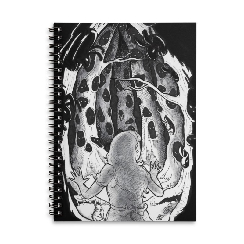 Teeming Accessories Lined Spiral Notebook by DEROSNEC's Art Shop