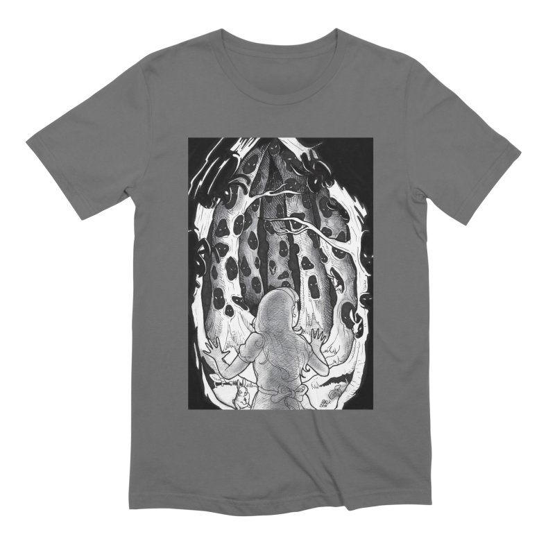 Teeming Men's Extra Soft T-Shirt by DEROSNEC's Art Shop