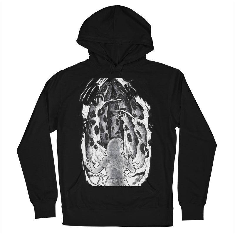 Teeming Men's French Terry Pullover Hoody by DEROSNEC's Art Shop