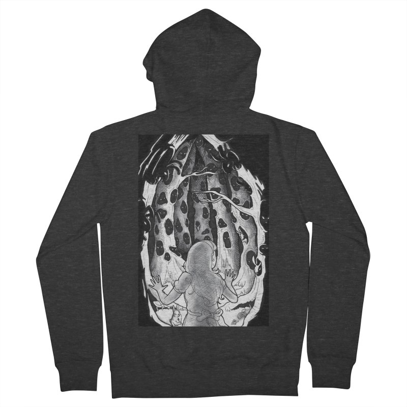 Teeming Men's French Terry Zip-Up Hoody by DEROSNEC's Art Shop