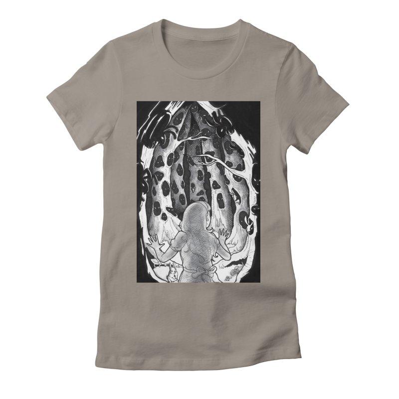 Teeming Women's Fitted T-Shirt by DEROSNEC's Art Shop