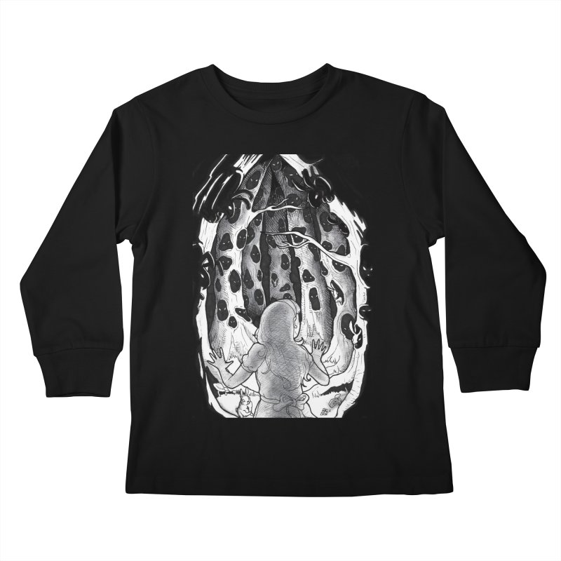 Teeming Kids Longsleeve T-Shirt by DEROSNEC's Art Shop