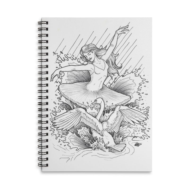 Graceful Accessories Lined Spiral Notebook by DEROSNEC's Art Shop