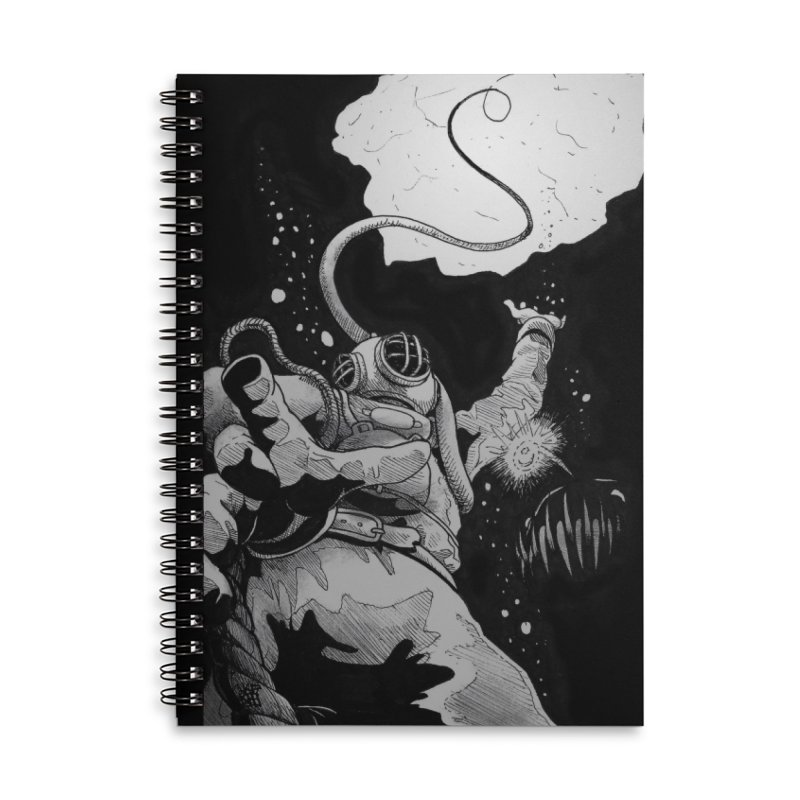Deep Accessories Lined Spiral Notebook by DEROSNEC's Art Shop
