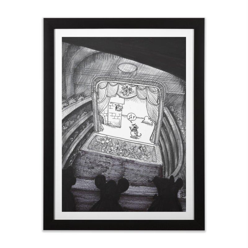 Mouse Opera Home Framed Fine Art Print by DEROSNEC's Art Shop