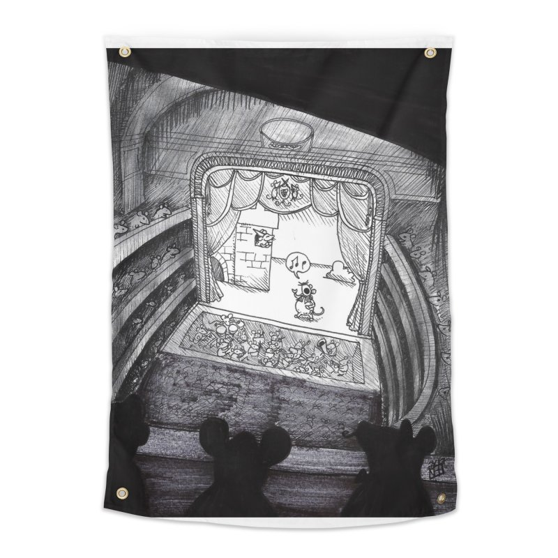 Mouse Opera Home Tapestry by DEROSNEC's Art Shop
